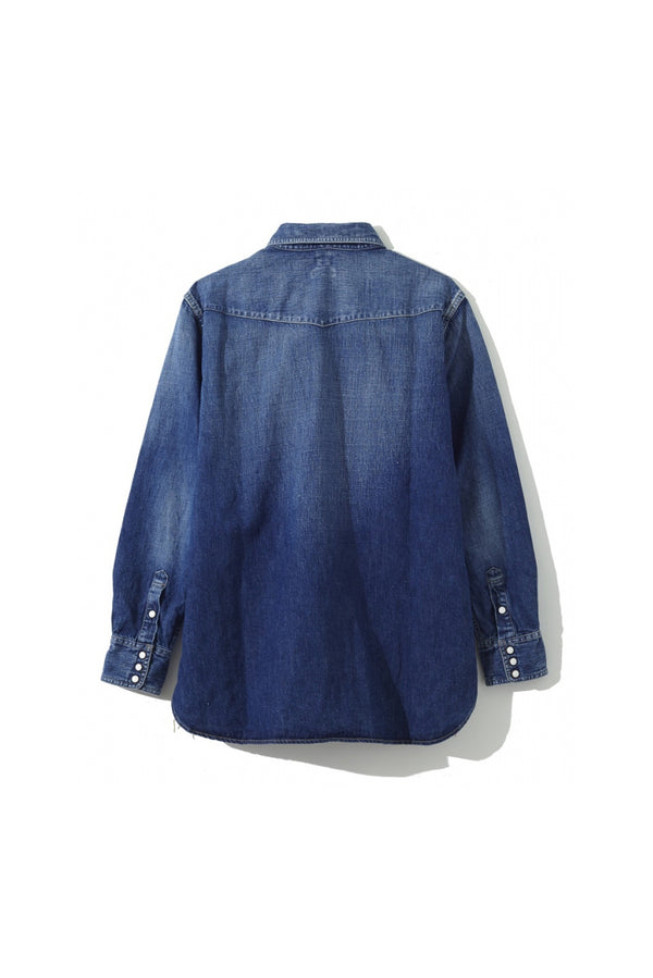 SEA Vinatge Irish linen BIG Denim Shirt