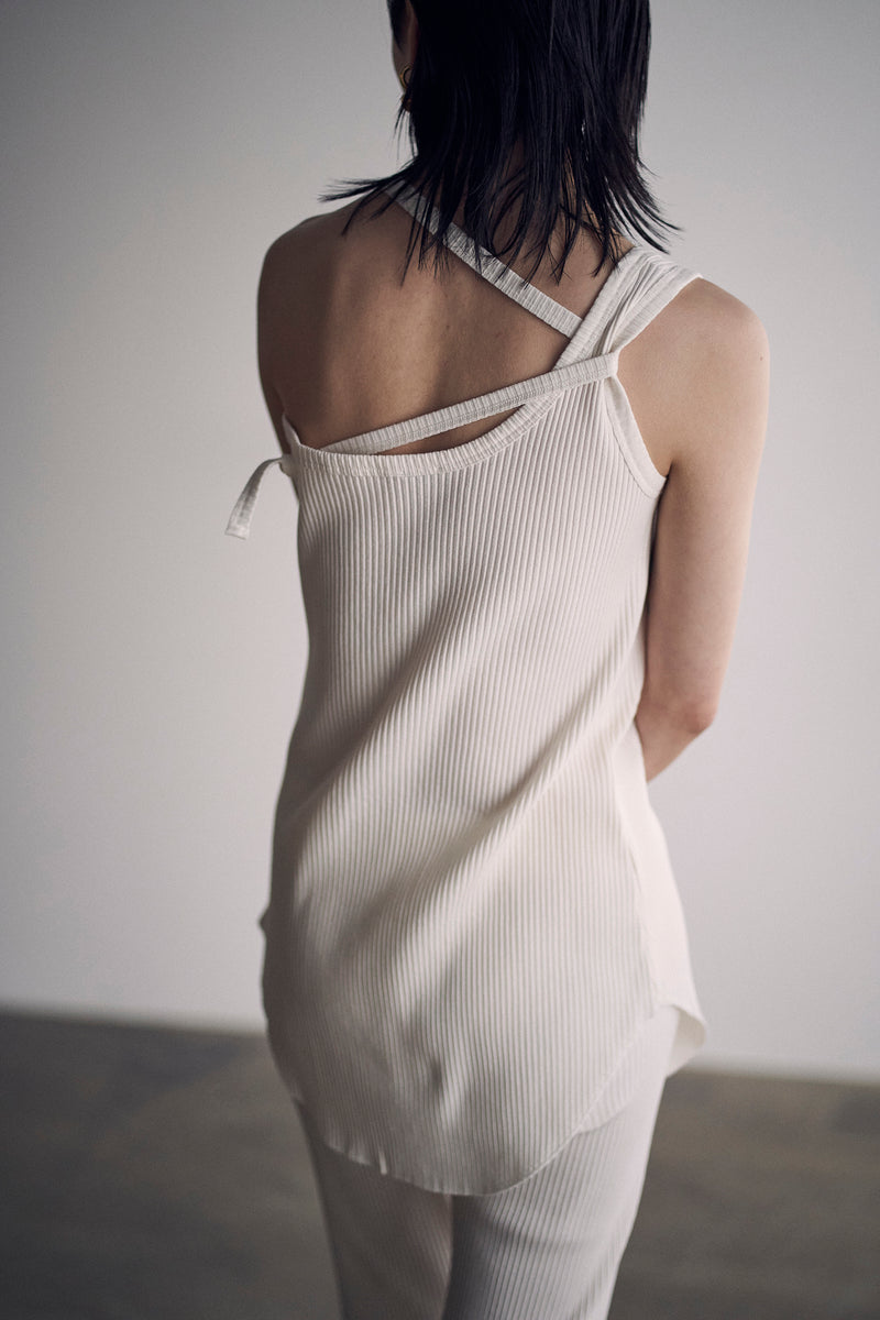 SEA RIBBED ASYMMETRY TANK TOP
