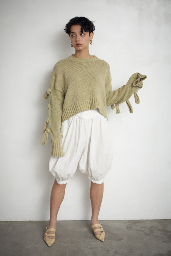 SEA COTTON  MIX KNIT PULLOVER