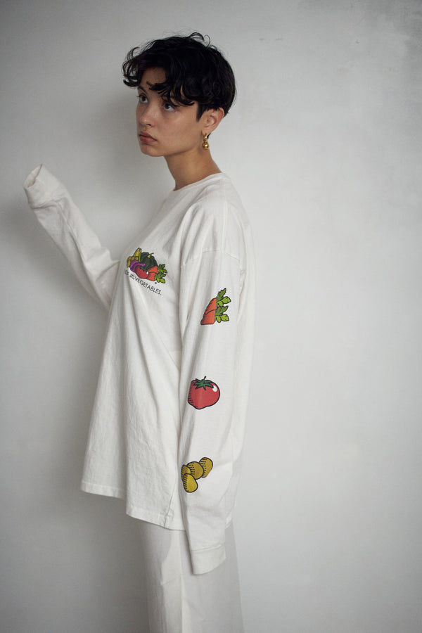 SEA VINTAGE GRAPHIC  LONG SLEEVE TEE (VEGETABLE)