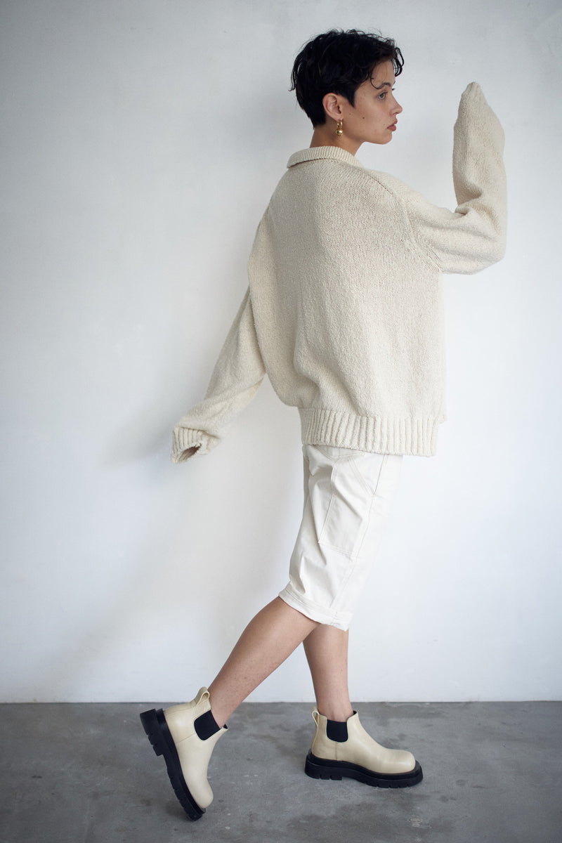 SEA COTTON  MIX KNIT CARDIGAN