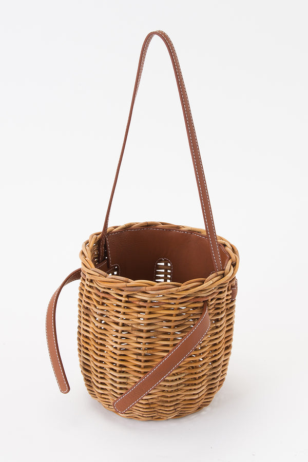 SEA Rattan Round Basket Bag