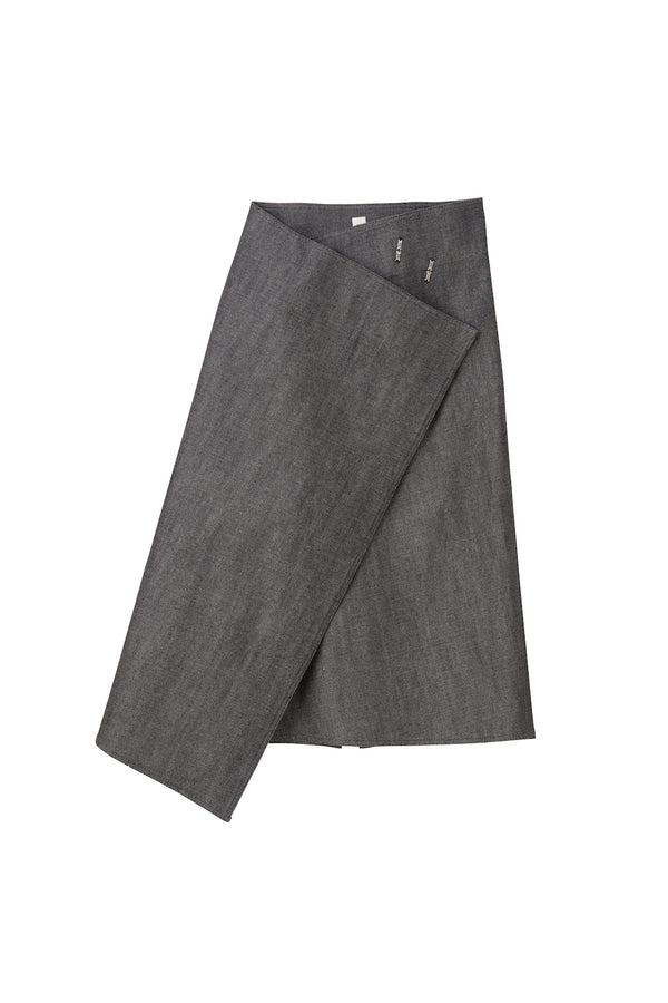 SEA Selvedge Rigid Denim Wrap Skirt
