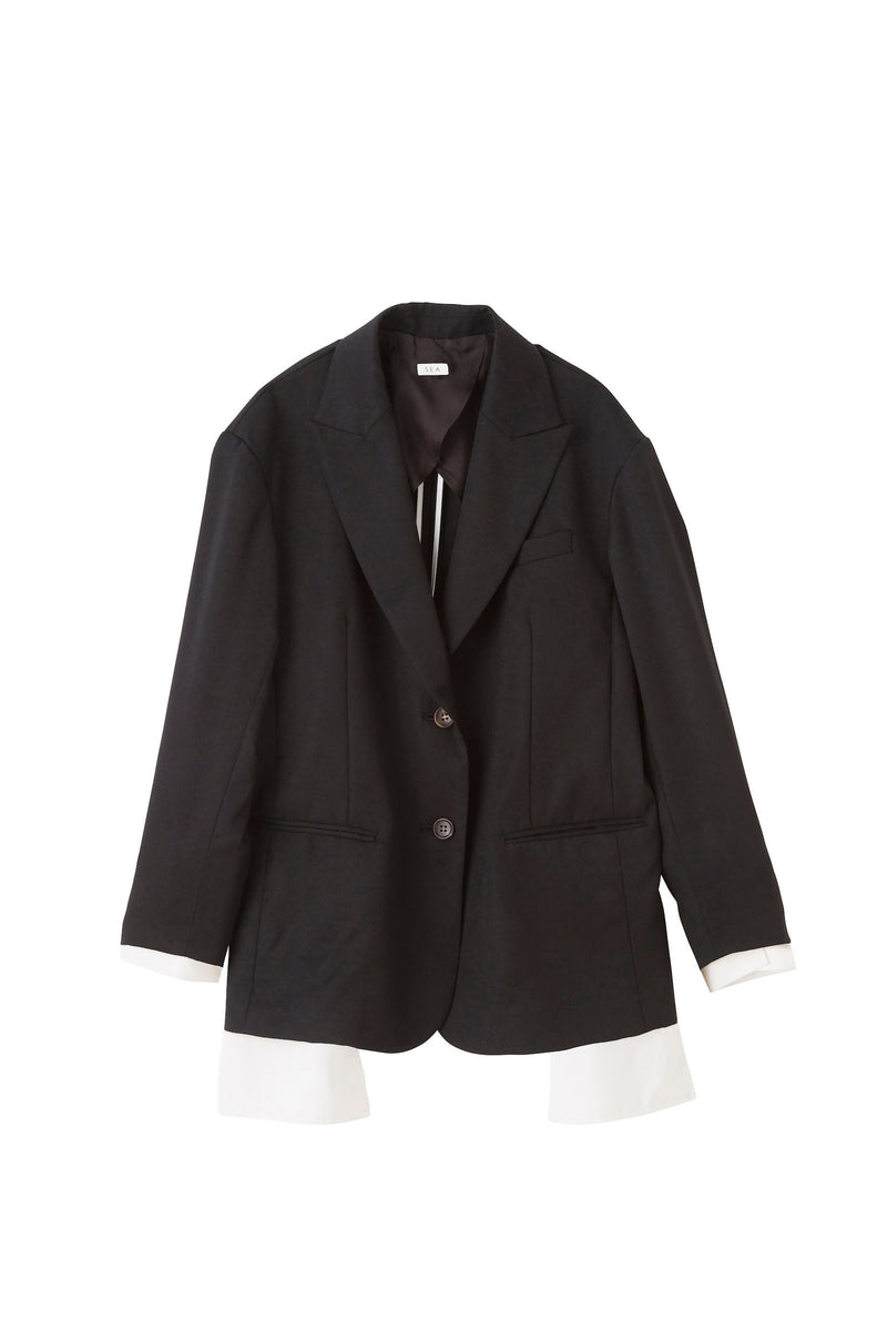 SEA Wool Serge Masculine Layered Jacket