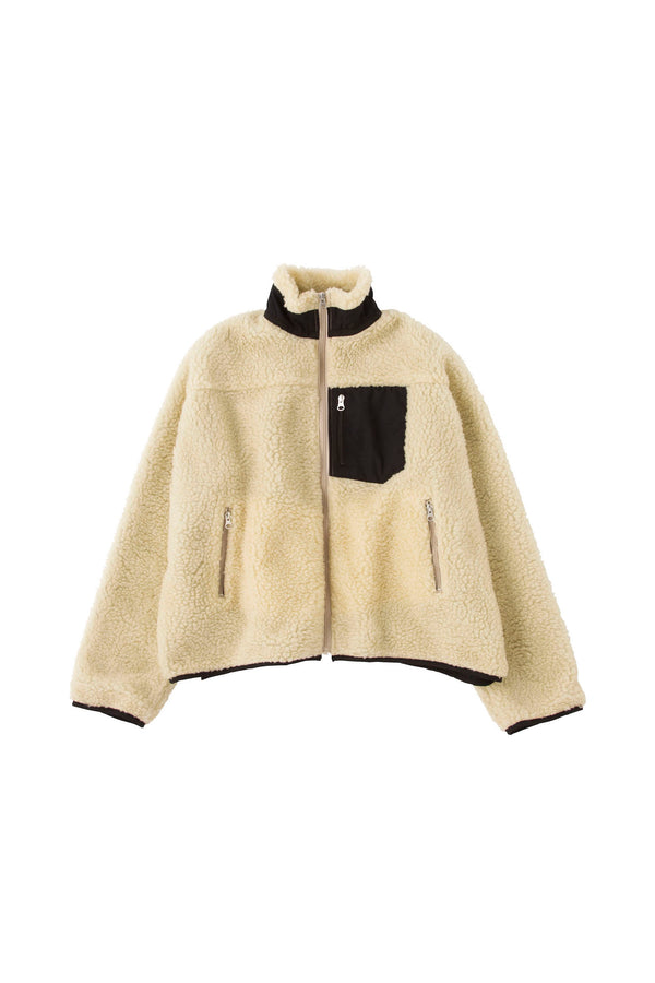 SEA Vintage Oversized Fleece Jacket