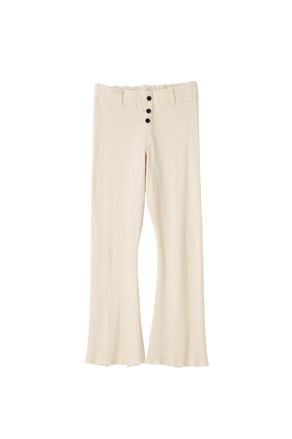 SEA Vintage High-rise Ribbed Flare Pants