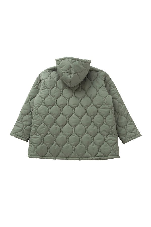 SEA Oversized  Hooded Quilted Coat