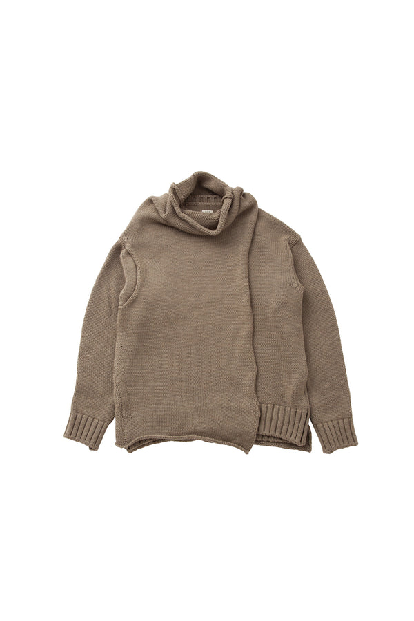 [SALE] SEA Washable  Merino Wool Layered Bottleneck Sweater