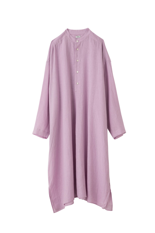SEA FRENCH LINEN RELAX SHIRT DRESS