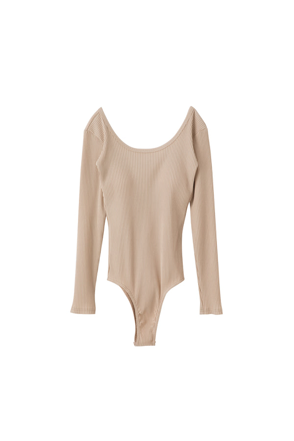 SEA RIBBED LONG SLEEVE BODYSUIT