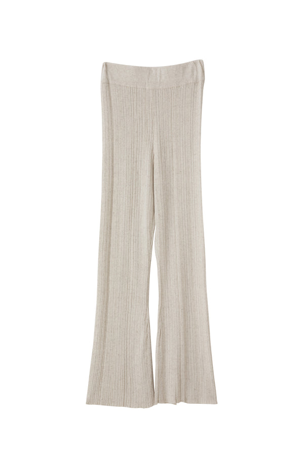 SEA RIBBED KNIT FLARE PANTS