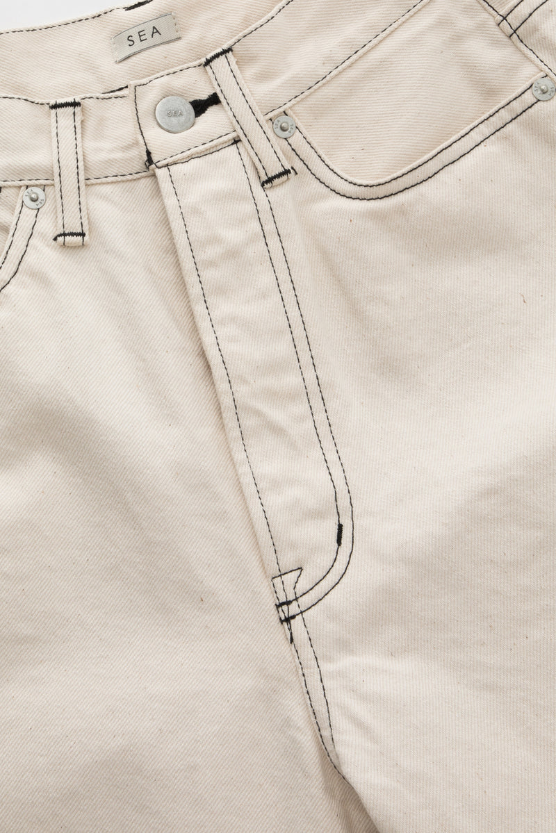 SEA VINTAGE HIGH-RISE CARROT DENIM PANTS