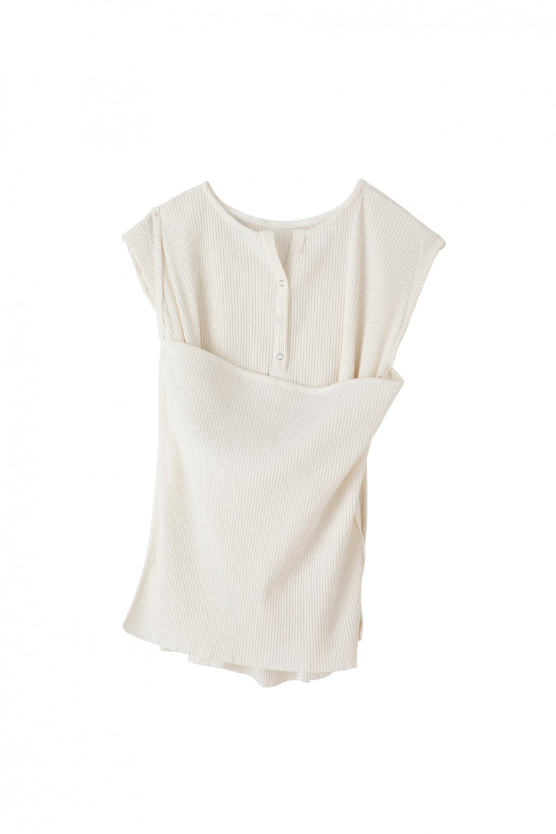 SEA 3-in-1 Ribbed Sleeveless Pullover