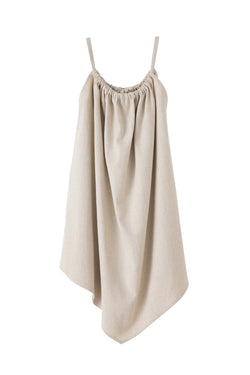 SEA 2in1 Linen-Cotton Asymmetry Dress Skirt