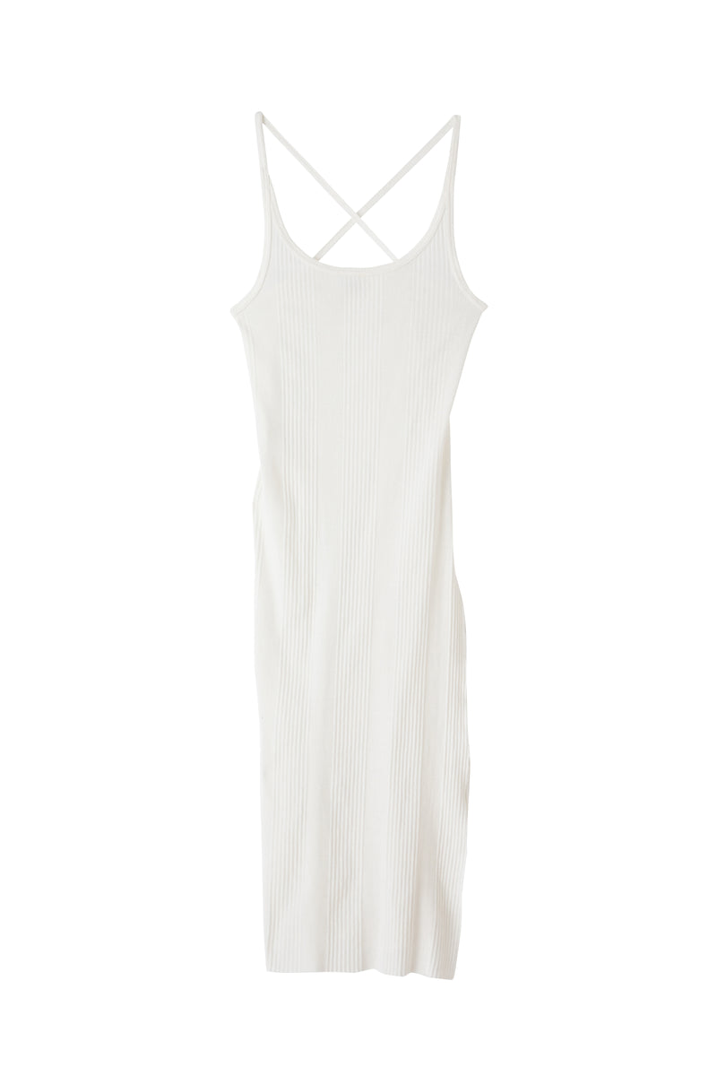 SEA Recycled Cotton TERECO Back Cross Dress