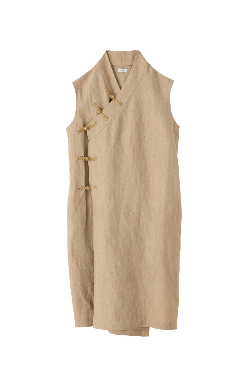 SEA Linen Sleeveless China Dress