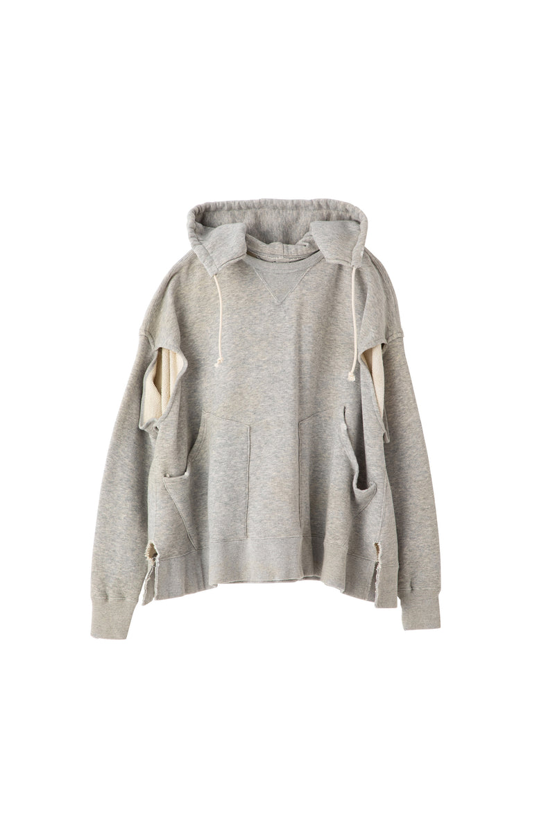 SEA 2-IN-1 VINTAGE  CAPE  HOODED SWEATSHIRT