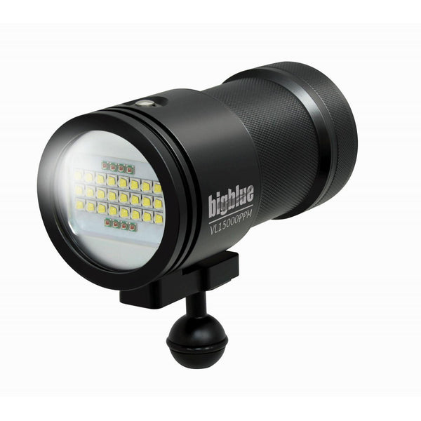 BigBlue 15,000 Lumen Video Light - Black-DiveCatalog.com - Dive Catalog - Scuba Diving and Underwater Photography Gear Specialty Store