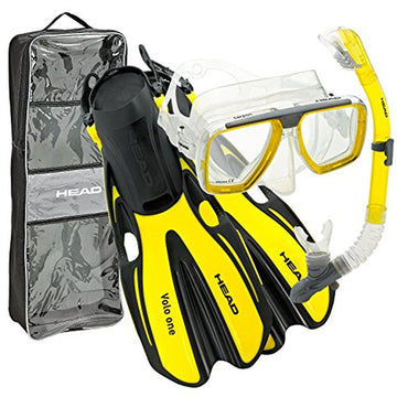 HEAD Mares Tarpon Mask/Snorkel/Fin Set - Small-Medium (Yellow)