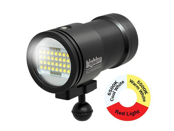 BigBlue 15,000 Lumen Tri-Color Video Light - Black-DiveCatalog.com - Dive Catalog - Scuba Diving and Underwater Photography Gear Specialty Store