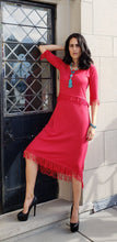 Cashmere Silk Fringe Dress
