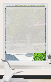 Render of Phifer Sheerweave 4100 Alabaster Roller Shade