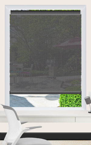 Render of Phifer Sheerweave 4100 Ash Roller Shade