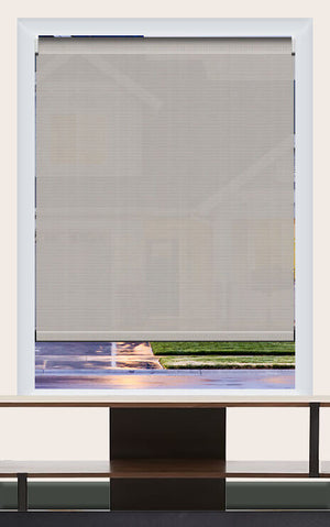 Render of Phifer Sheerweeve 2410 Beige Pearl Grey Roller Shade