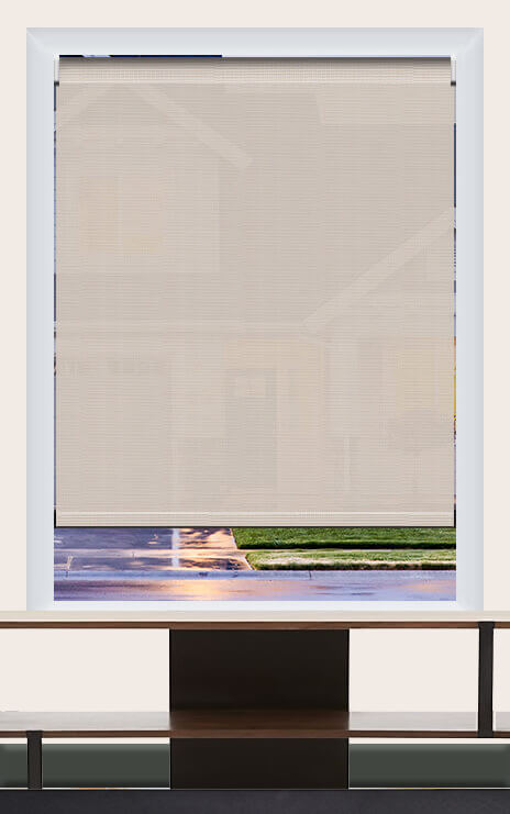 Render of Phifer Sheerweeve 2410 Beige Roller Shade