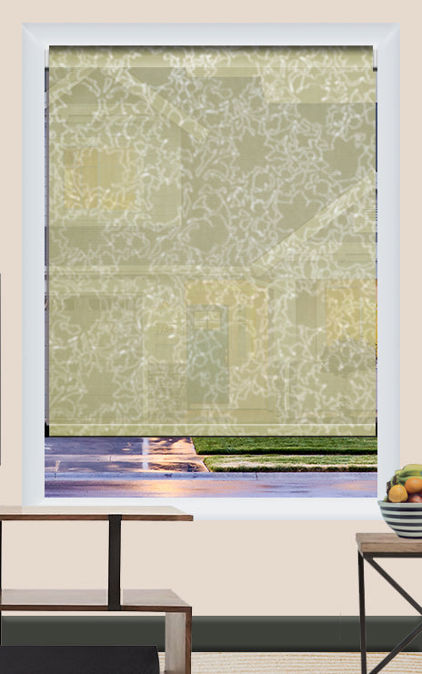 Render of Floral Cement Roller Shade