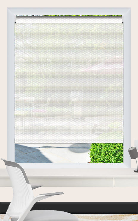 Render of Phifer Sheerweave 4100 Chalk Roller Shade