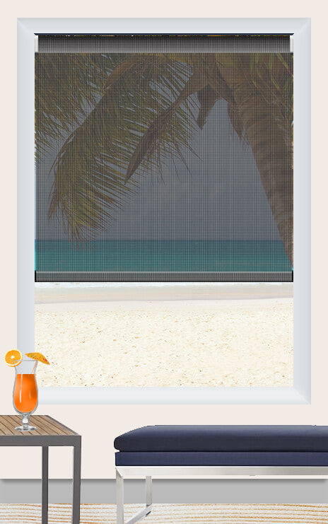 Render of Phifer Sunscreen Charcoal Roller Shade