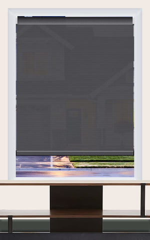 Render of Phifer Sheerweeve 2410 Charcoal Roller Shade