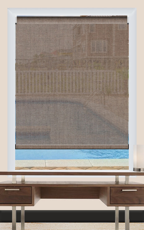 Render of Hessian Demera Roller Shade
