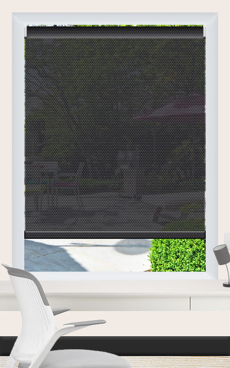 Render of Phifer Sheerweave 4100 Ebony Roller Shade