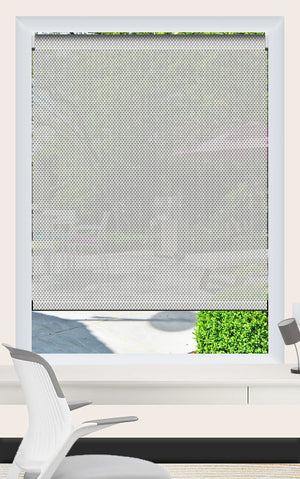 Render of Phifer Sheerweave 4100 Granite Roller Shade