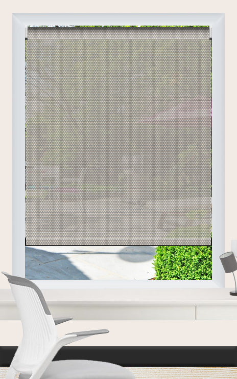 Render of Phifer Sheerweave 4100 Greystone Roller Shade