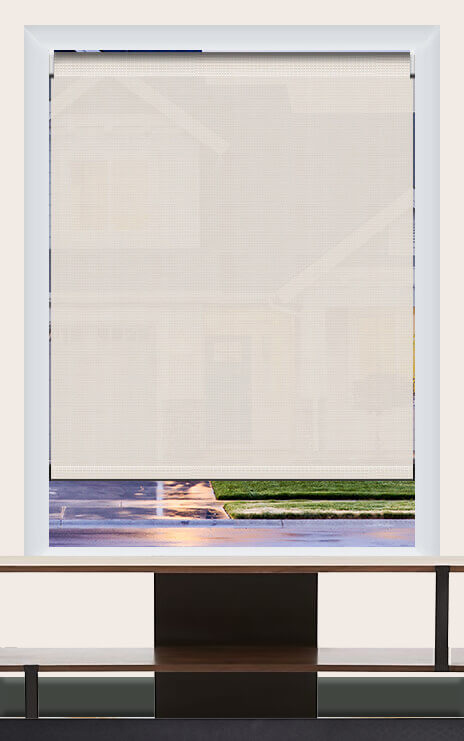 Render of Phifer Sheerweeve 2410 Oyster Beige Roller Shade