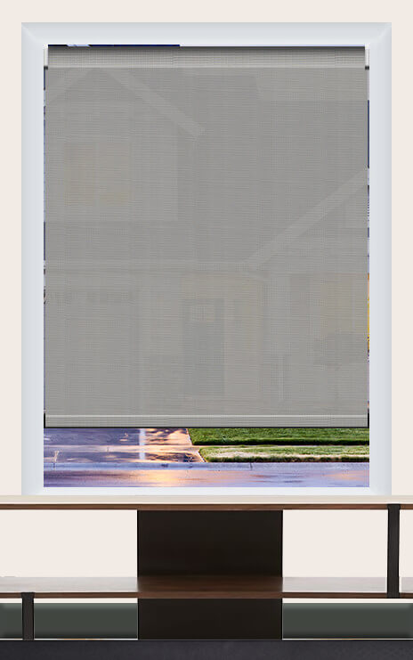 Render of Phifer Sheerweeve 2410 Pearl Grey Roller Shade