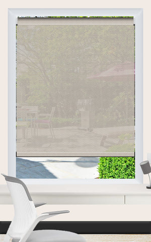 Render of Phifer Sheerweave 4100 Pebblestone Roller Shade