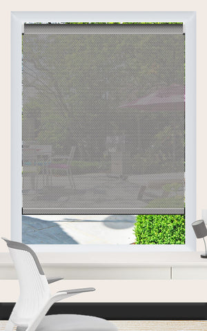 Render of Phifer Sheerweave 4100 Pewter Roller Shade