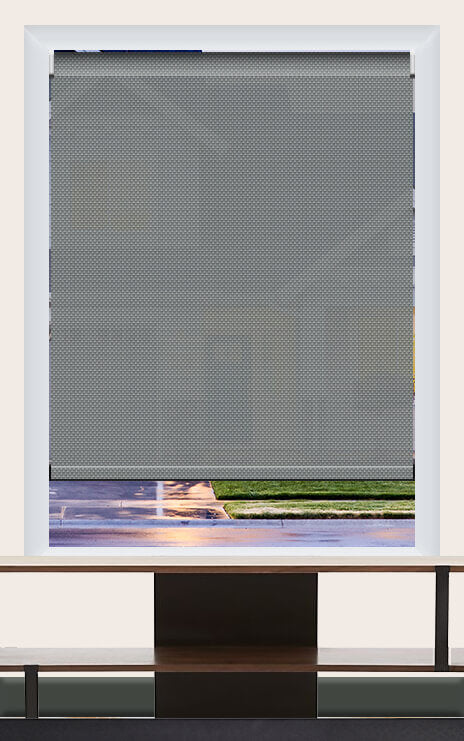 Render of Phifer Sheerweeve 2410 Platinum Pewter Roller Shade
