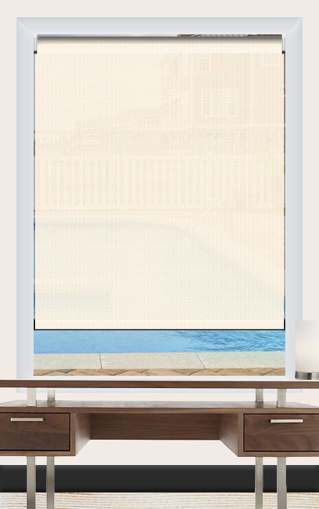 Render of Basit White Roller Shade