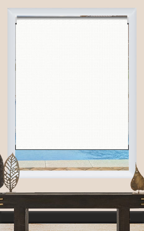 Render of Canvas White Roller Shade