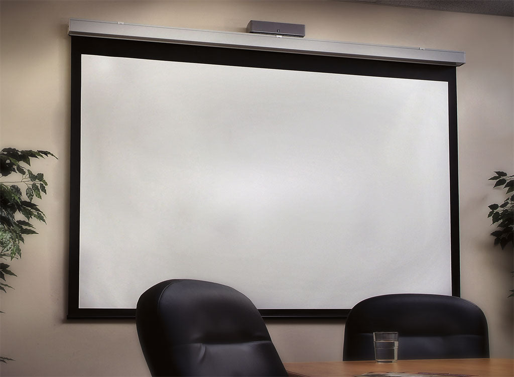 Projection Screen in Office or Business Setting