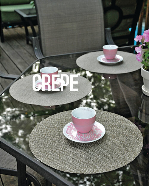 Lifestyle Photography of Crepe Placemats