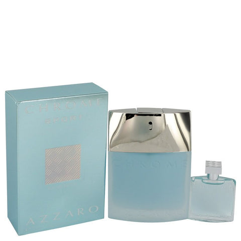 Chrome Sport Eau De Toilette Spray with .23 oz Mini EDT bonus moved code By Azzaro