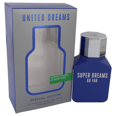 United Dreams Super Dreams Go Far Eau De Toilette Spray By Benetton