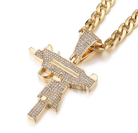 UZI Pendant Iced Out Necklace