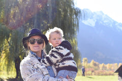 Bridey and Bowie at North Arm Farm in Pemberton on an autumn day